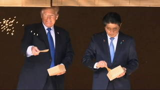 h02 trump pushes weapon sales japan