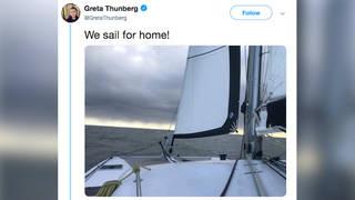 H14 climate activist greta thunberg sails europe madrid cop united nations