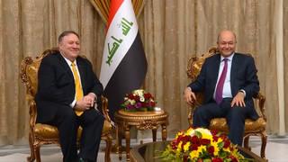 H8 iraqi president barham salih mike pompeo