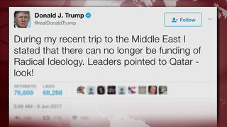 H06 trump qatar tweet