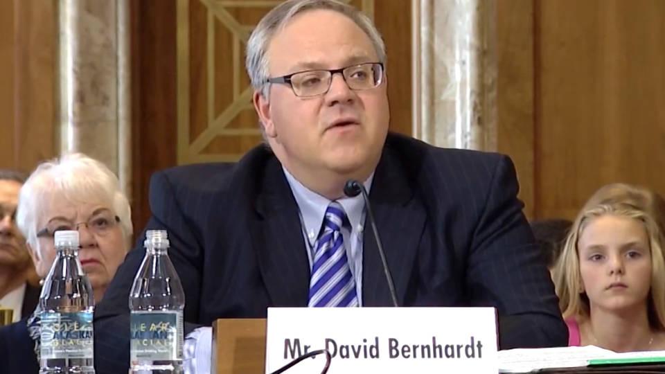 H11 secretary interior david bernhardt investigation conflict of interest