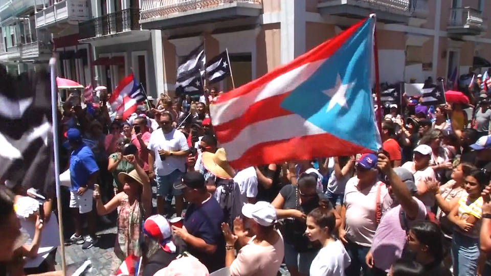 Protesters demand Governor's resignation in Puerto Rico