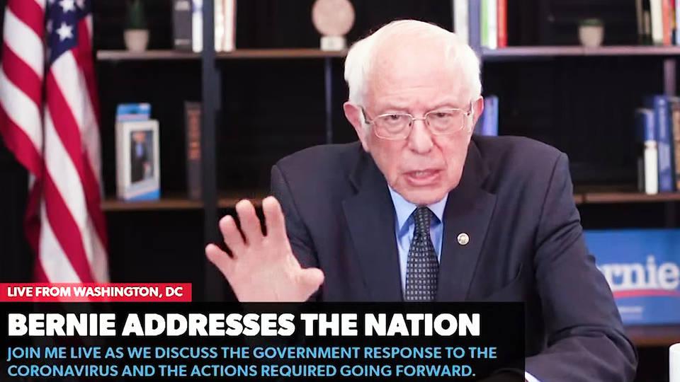 H10 senator bernie sanders outlines 2 trillion dollar coronavirus emergency plan