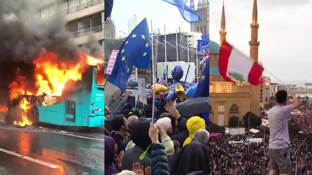 H2 protests south america asia africa pinera brexit lebanon haiti hong kong china barcelona catalonia