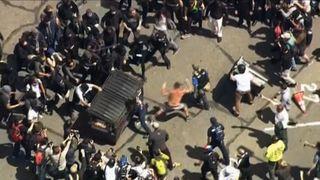 Protest clash