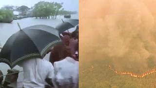 H7 cyclone kills 20 bangladesh india wildfires rage australia