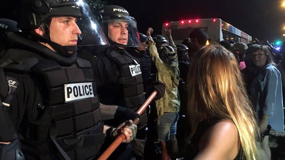 H1 charlotte police protest injured