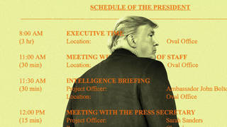 H13 leaked trump schedule 60 executive time