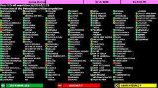 H7 un vote for palestinian civilian protection
