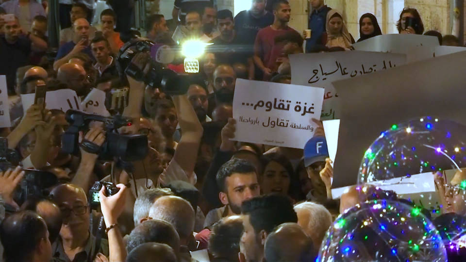 H8 ramallah protests pa gaza sanctions