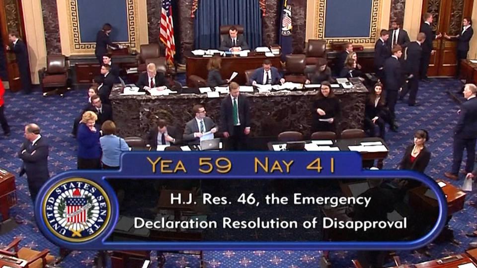 H5 senate vote emergency declaration