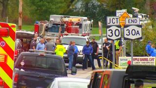 H9 limo crash scene