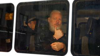 H14 julian assange videolink london court hearing us extradition hearing