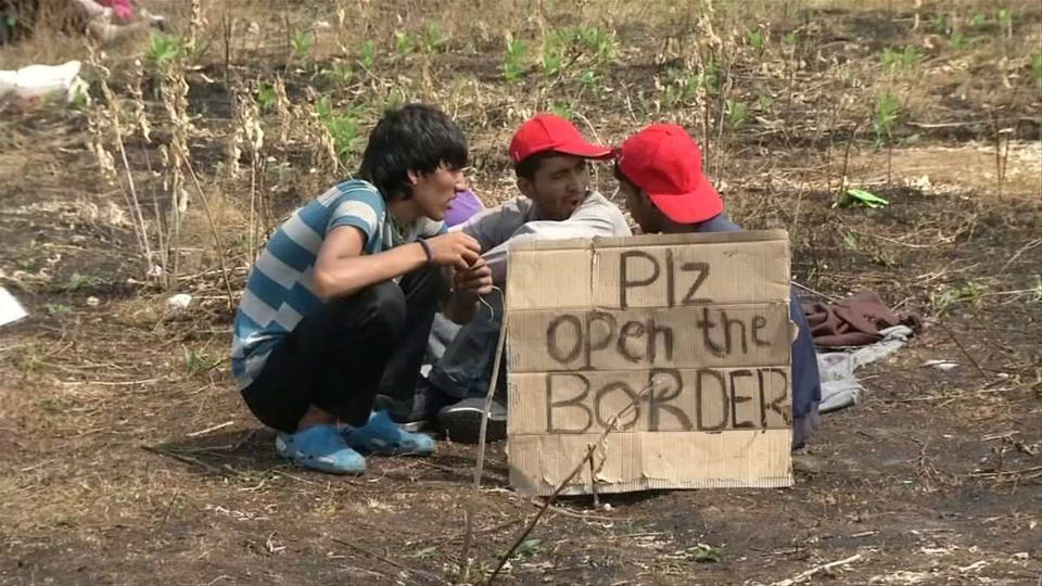 Hungary refugee hunger strike 1
