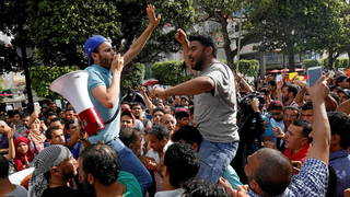 H13 tunisia funeral protest