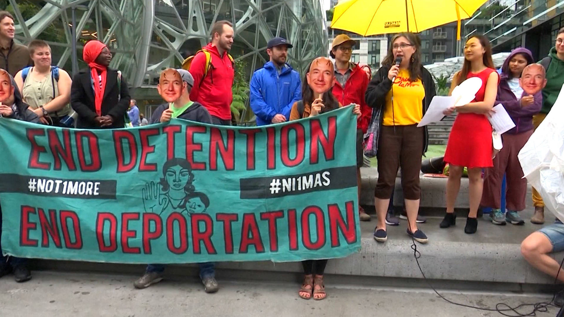 H6 amazon prime day protests workers acitivists ice seattle bezos
