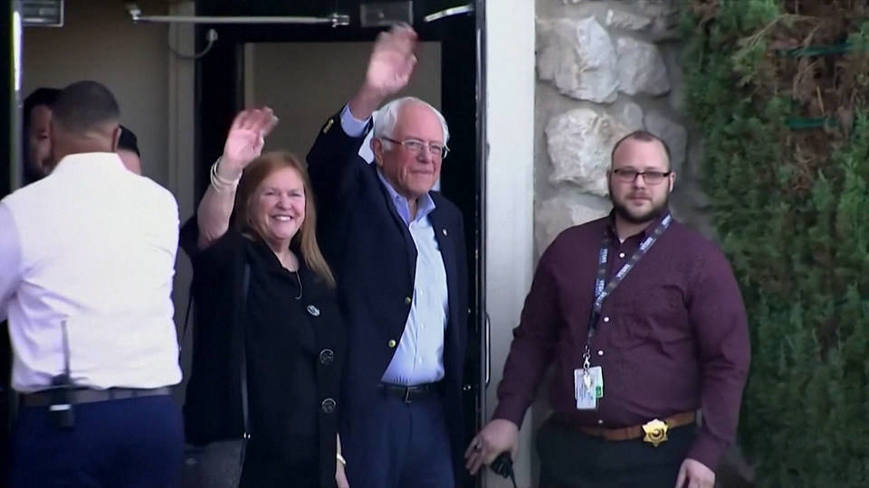 H19 bernie sanders released from hospital after heart attack