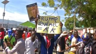 h06 trump protest haiti