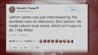 H8 trump lebron tweet