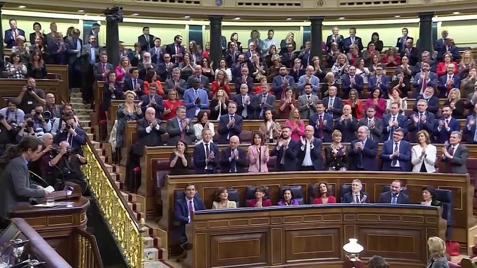 H4 spain progressive coalition government parliament vote socialist party pedro sanchez