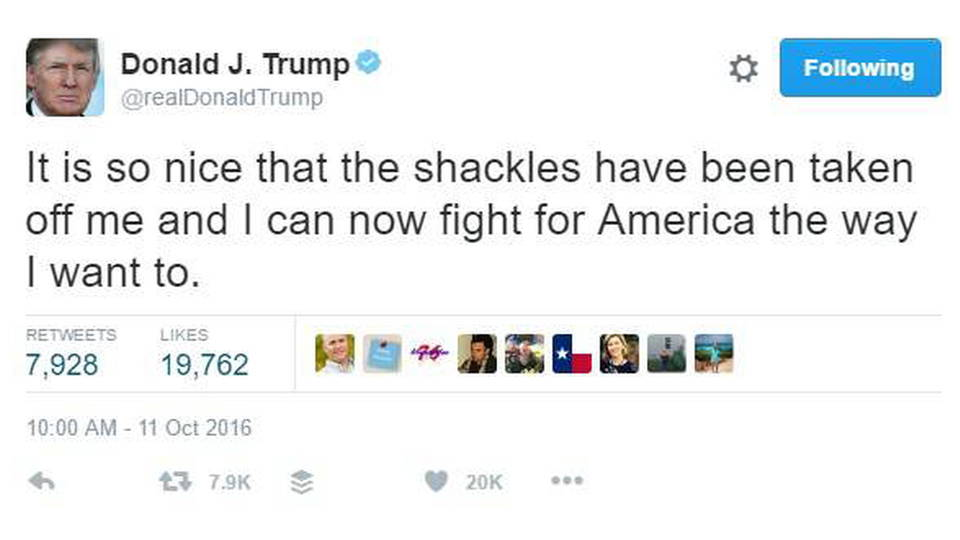 H03 trump tweet shackles
