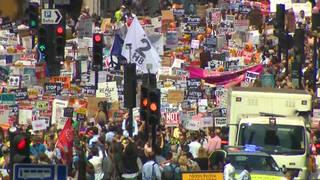 H2 uk protests trump