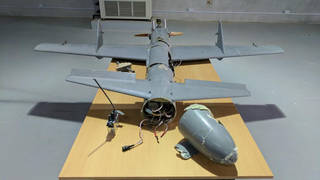 H2 houthi drone on display