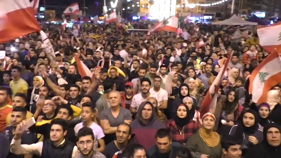 H7 one month anniversary anti government protests lebanon