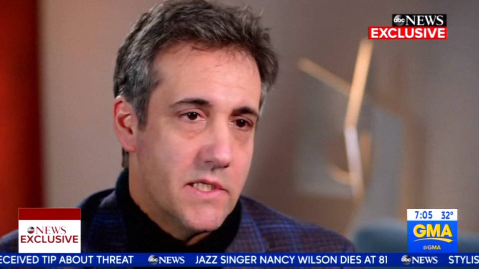 Trump Calls Michael Cohen a 'rat'