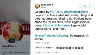 H1 iran javad zarif tweet