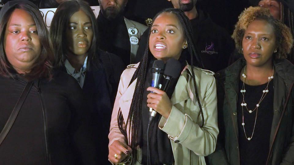H14 nyc national day of outrage protest police kilings black women botham tamika mallory atatiana jefferson