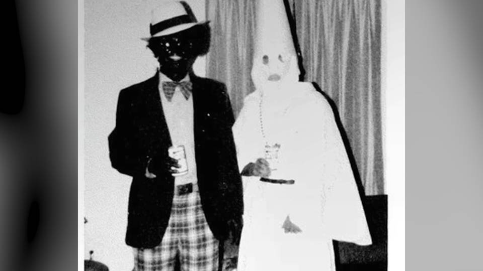 H3 northam blackface kkk photo