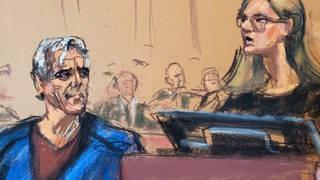 H9 epstein bail hearing wild scary person fake name passport cash