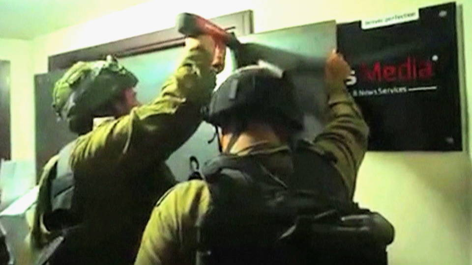 h08 israel raid palestine media