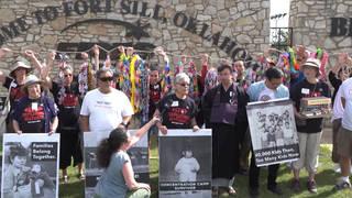 H11 japenese american activists internment camp survivors protest fort sill migrant children detention plans oklahoma immigration