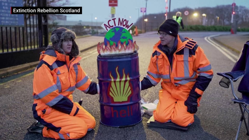 H13 extinction rebellion protests siemens london shell scotland aberdeen