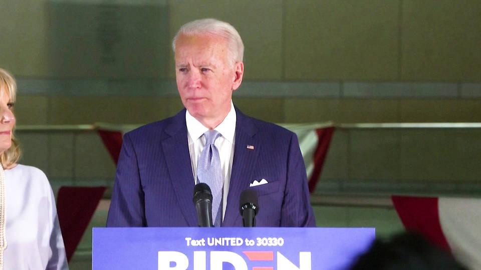 Biden pulls ahead after winning Democratic primaries in four more states