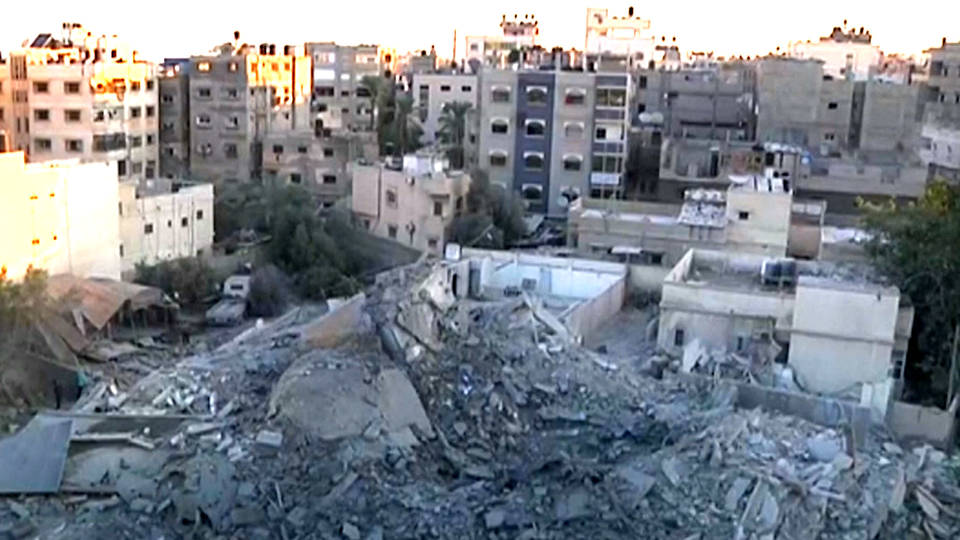 H16 gaza detroyed buildings