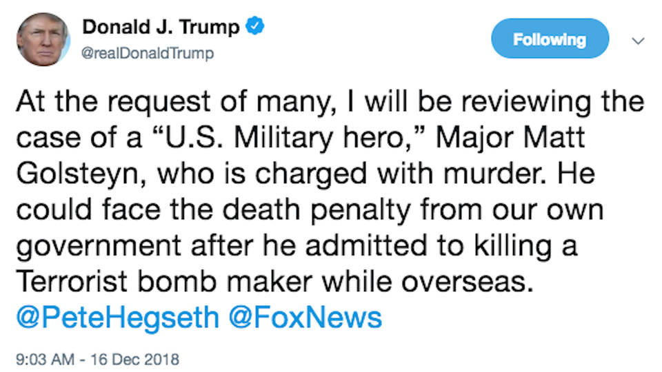 H11 trump tweet