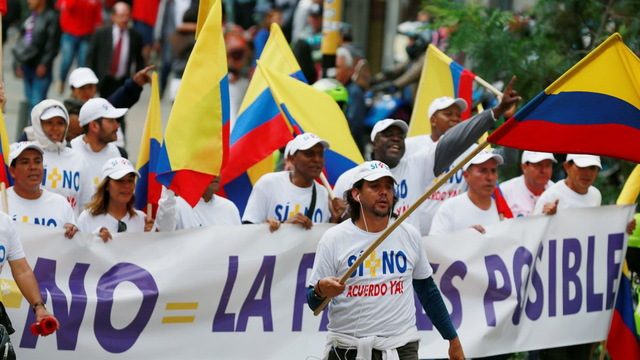 H12 colombia peace protest
