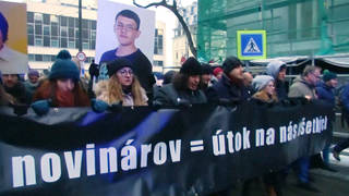 H12 slovak march for murdered jouralist