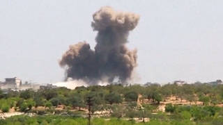 H8 air raid syria aleppo white helmets