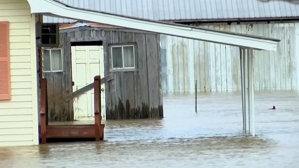 H8 mississippi residents displaced homes inundated from torrential rains flooding