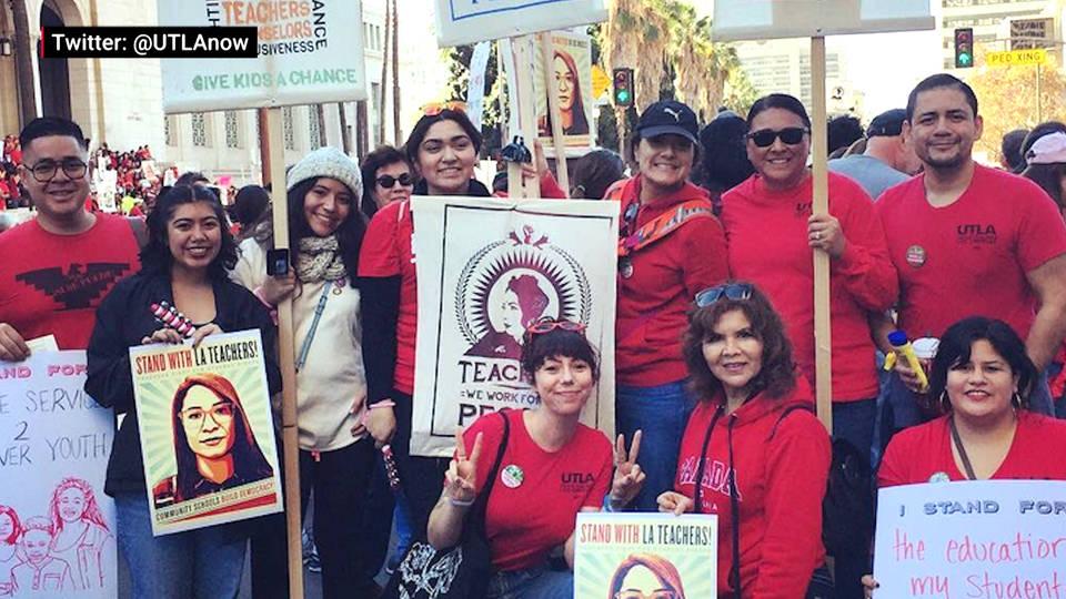 H13 la teachers march