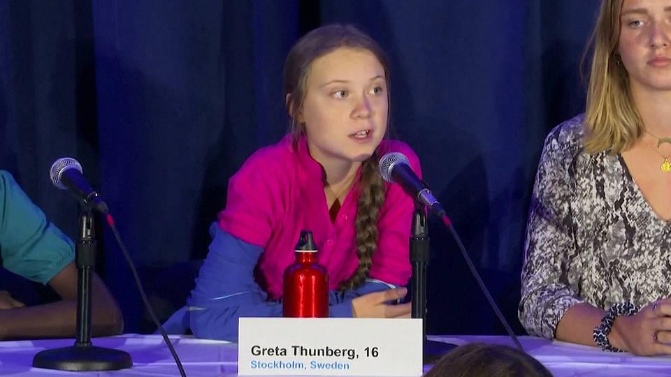 H1 greta thunberg un panel youth activists climate action cummit nyc