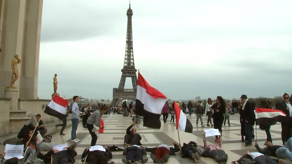 H10 yemen saudi protest paris