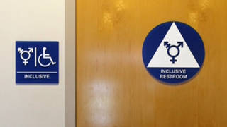 H2 multi gender bathroom sign