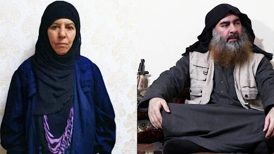 H12 turkish officials say captured sister slain former isis leaeder al baghdadi rasmiya awad president trump