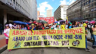 H5 colombia tens thousands streets country third national strike two weeks against corruption economic inequality murder