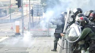 H4 hong kong protests tear gas shot china 70th anniversary